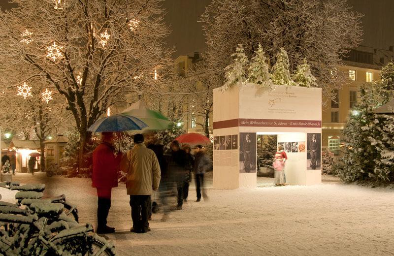 Weihnachtsmarkt Anfang.Weihnachtsmarkt Bruneck Vivopustertal